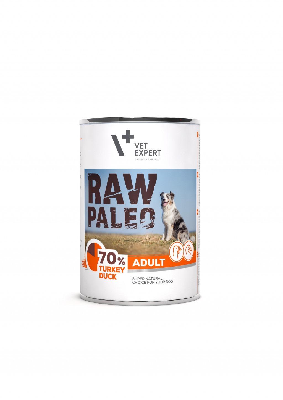 Raw-Paleo-Adult-Hundefutter-Nassfutter-Truthahn-und-Ente