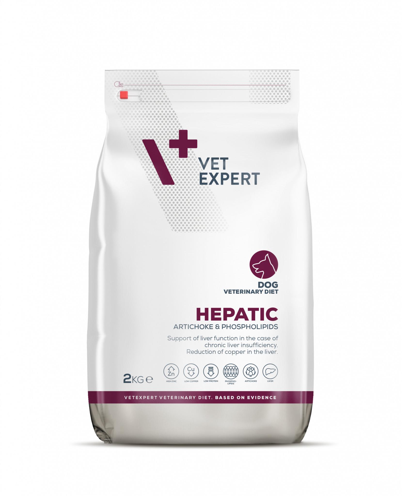 VetExpert 4T Tierärztliche Diät - Hepatic – Premium Tierärztliche Diät für Hunde mit Lebererkrankungen, Diätfutter, Tierärztliche Diät,hepatische Enzephalopathie, Kupferspeicherkrankheit, Leberversagen, chronische Leberentzündung, Hepatitis, portosystemischer Shunt, Piroplasmose, Babesiose.