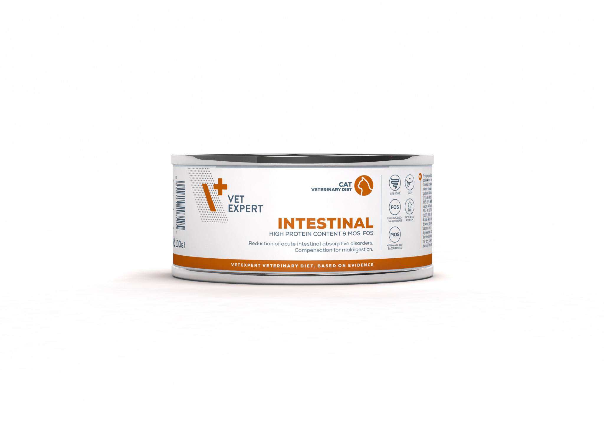 VetExpert 4T Tierärztliche Diät - Intestinal – Premium Tierärztliche Diät für Katzen mit Verdauungsstörungen, Diätfutter, Tierärztliche Diät, Erbrechen und Durchfall, entzündlichen Magen- und Darmerkrankungen, Futtermittelunverträglichkeit, Verdauungsbeschwerden, Magen und Darm Infek, Magenentleerung, Bauchspeicheldrüse, Pankreasfunktion, Gastro Intestinal.