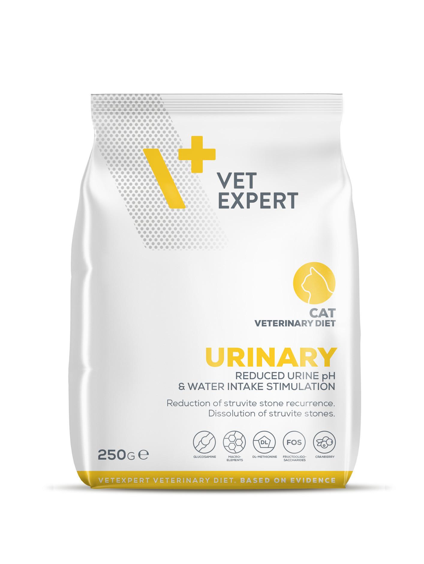 VetExpert 4T Tierärztliche Diät - Urinary – Premium Tierärztliche Diät für Katzen mit Harnwegserkrankungen und Blasenentzündung, Struvitkristallbildung, Struvit-Urolithiasis, Erkrankungen der ableitenden Harnwege (FLUTD), Zystitis, harnsäuernden Inhaltsstoffen, Struvitsteinen.
