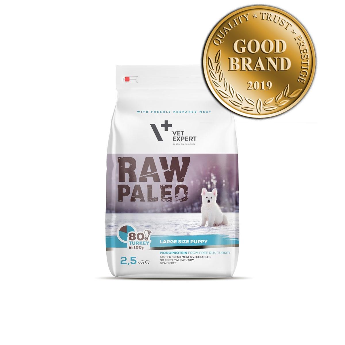 VetExpert Raw Paleo Large Breed Puppy 2.5kg Premium getreidefreies Hundefutter, Alleinfuttermittel, Trockenfutter, Nassfutter, Hundebedarf, Hundenahrung, Hundeernährung