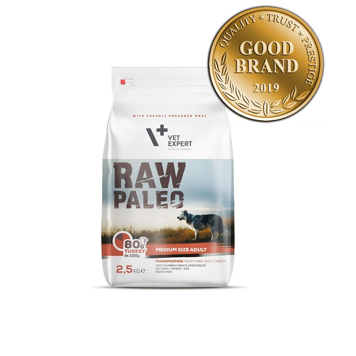 VetExpert Raw Paleo Adult Medium Breed 2.5kg Premium getreidefreies Hundefutter, Alleinfuttermittel, Trockenfutter, Nassfutter, Hundebedarf, Hundenahrung, Hundeernährung