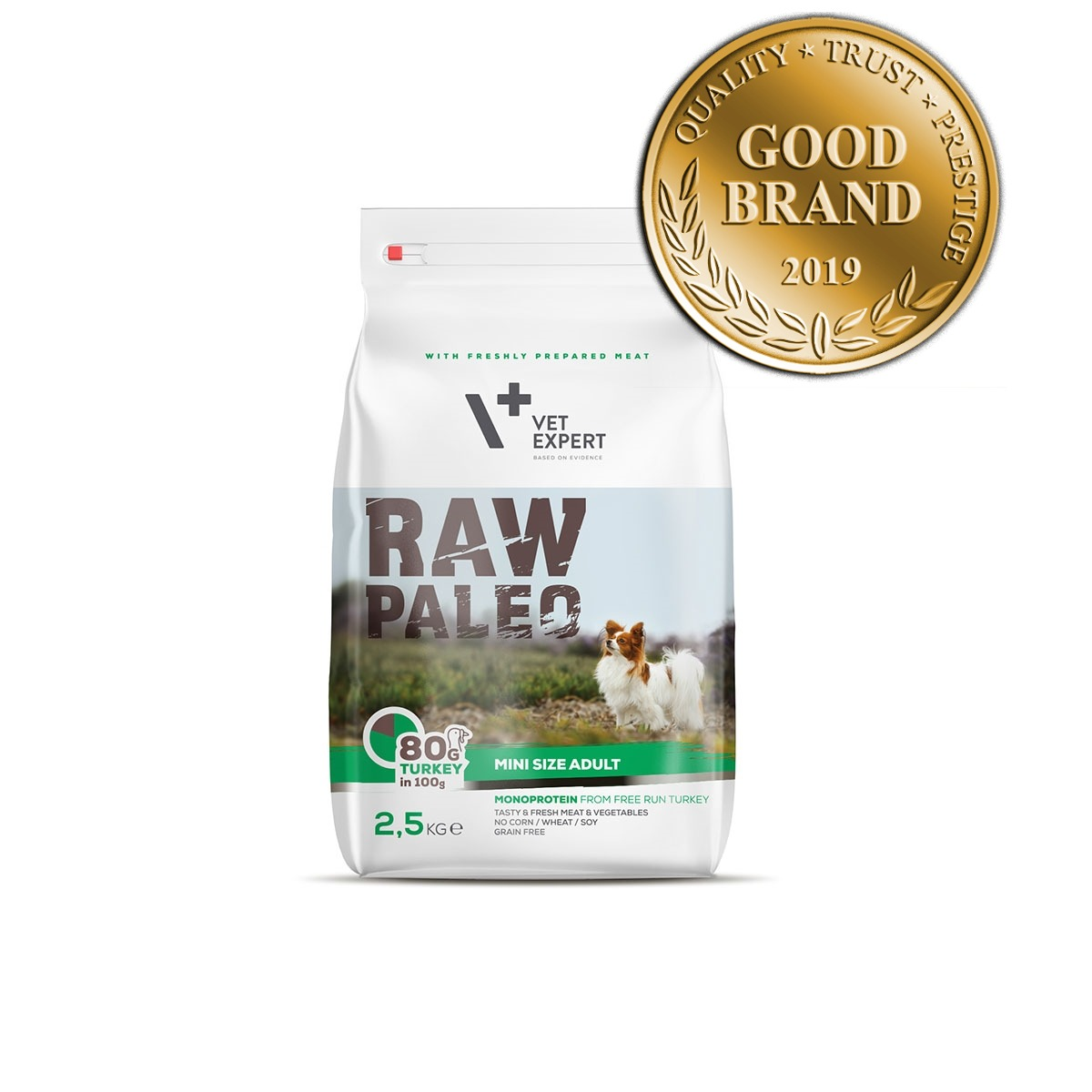 VetExpert Raw Paleo Adult Mini Breed 2.5kg Premium getreidefreies Hundefutter, Alleinfuttermittel, Trockenfutter, Nassfutter, Hundebedarf, Hundenahrung, Hundeernährung