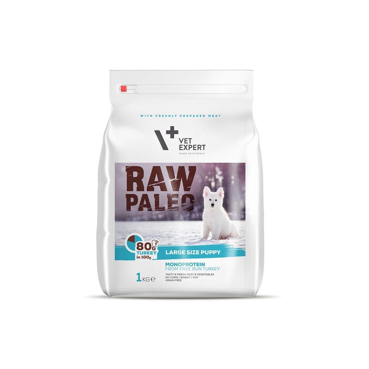 VetExpert Raw Paleo Large Breed Puppy 1kg Premium getreidefreies Hundefutter, Alleinfuttermittel, Trockenfutter, Nassfutter, Hundebedarf, Hundenahrung, Hundeernährung