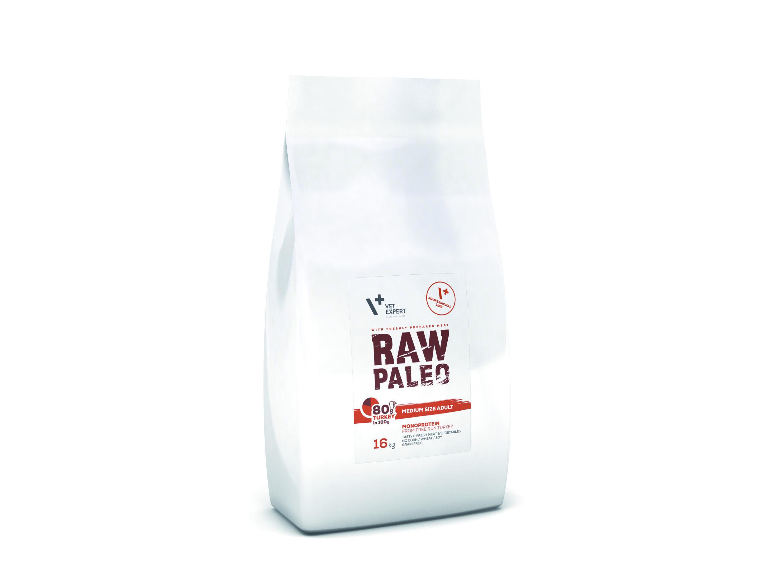VetExpert Raw Paleo Medium Size Adult 16kg Premium getreidefreies Hundefutter, Alleinfuttermittel, Trockenfutter, Nassfutter, Hundebedarf, Hundenahrung, Hundeernährung