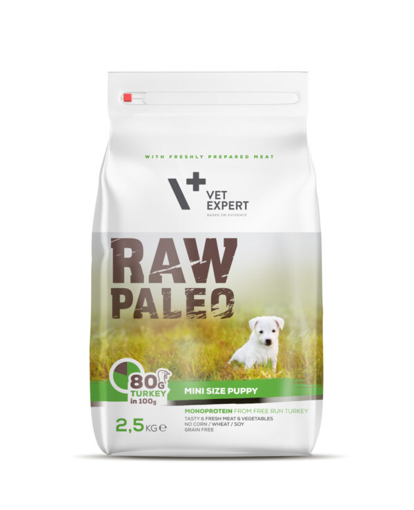 VetExpert Raw Paleo Puppy Mini Breed 2,5kg Hundefutter Premium getreidefreies Hundefutter, Alleinfuttermittel, Trockenfutter, Nassfutter, Hundebedarf, Hundenahrung, Hundeernährung