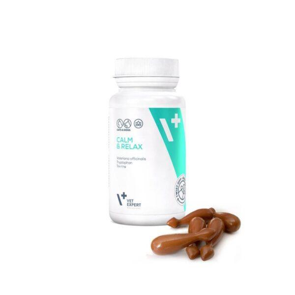 Pet - VetExpert Calm & Relax 30 Kapseln Twist-Off Diätergänzungsfuttermittel Tierarztbedarf, Veterinärbedarf, Veterinärmedizin, Praxisbedarf, Ergänzungsfuttermittel, Tierarztprodukten, Tierapotheke, Tierpflegeprodukte
