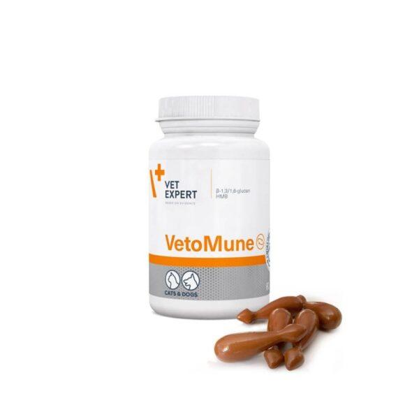 Vetexpert VetoMune 60 Kapseln Twist-Off Diätergänzungsfuttermittel Tierarztbedarf, Veterinärbedarf, Veterinärmedizin, Praxisbedarf, Ergänzungsfuttermittel, Tierarztprodukten, Tierapotheke, Tierpflegeprodukte